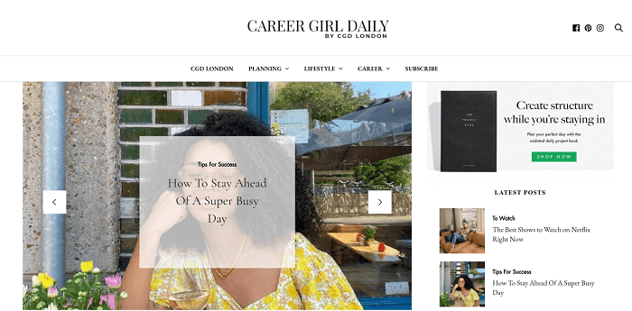 Career Girl Daily - most popular blogs for women