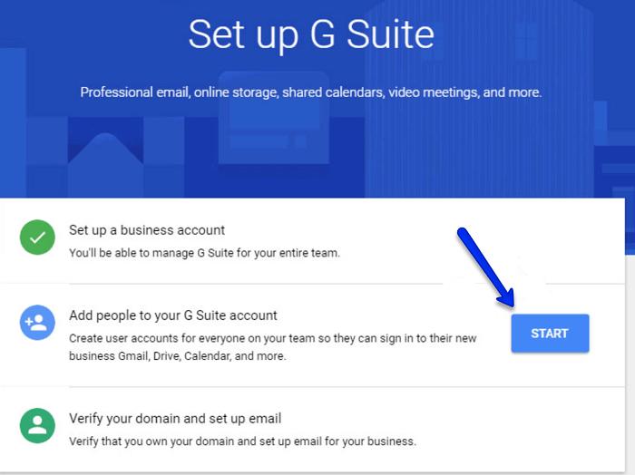 set up G Suite