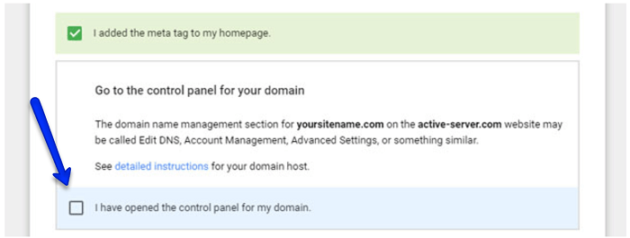 use domain control panel in G Suite