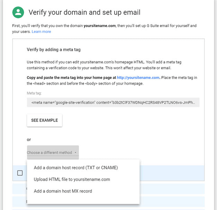 verify your email and set up