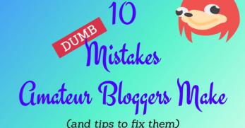 amateur blog mistakes